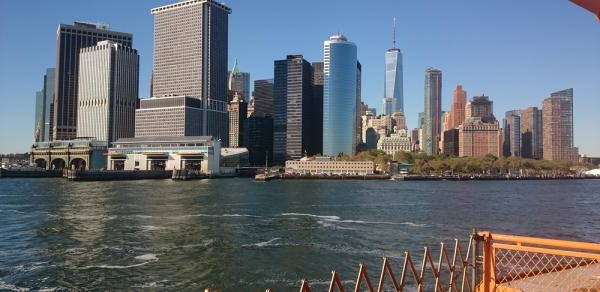 nyc skyline from ferry
